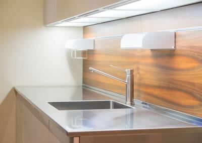 6 - Cucina anta acciaio su misura