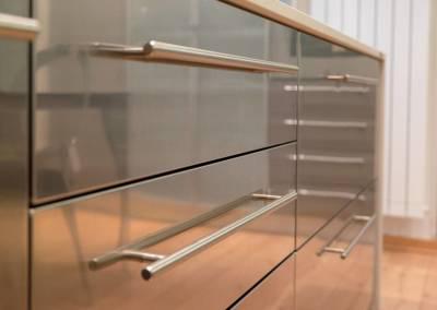 9 - Cucina top acciaio su misura