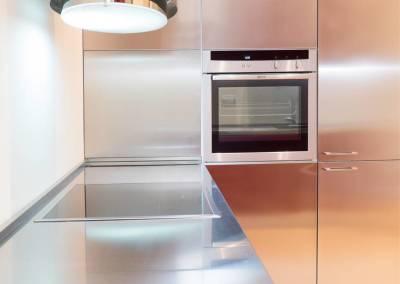 4 - Cucina acciaio su misura
